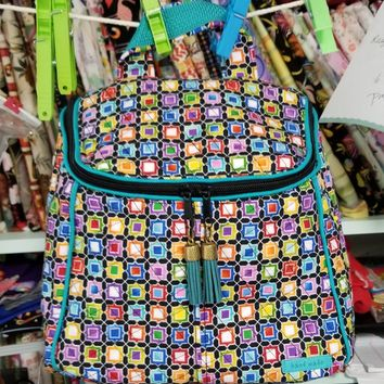 Colorful medium size backpack for the summer months.