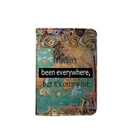 I Haven't Been Everywhere World Map [Name Customized] Leather Passport Holder/Cover /Wallet_SCORPIOshop