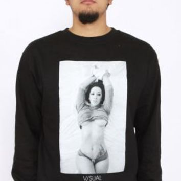 Visual x Jayden Jaymes, Tempted Crewneck - Black - Visual - MOOSE Limited