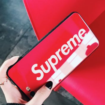 Supreme Tide brand personality letters for men and women 8plus mobile phone case cover Red