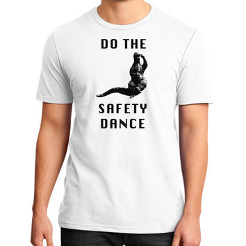Godzilla safety dance District T-Shirt (on man)