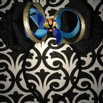 Minnie Mouse Snow White Evil Queen Inspired Headband Ears