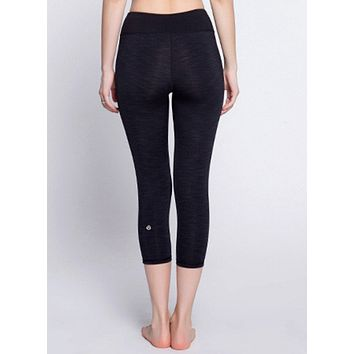 """lululemon"" Fashion Print Exercise Fitness Gym Yoga Running Leggings Sweatpants (7 Points Long)"