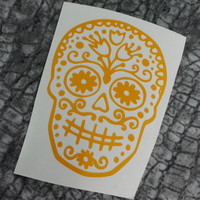 Sugar Skull Decal | Preppy Skull Decal | Skull Decal | Sugar Skull | Sugar Skull Decal | Car Decal | Cute Car Decal | Customized Decal