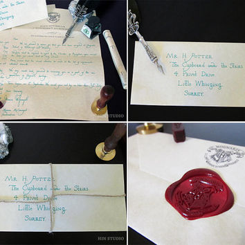 Harry Potter Hogwarts Letter Gift Set - Personalised and Handwritten: Hogwarts Acceptance Letter - O.W.Ls and N.E.W.Ts Certificate Grades