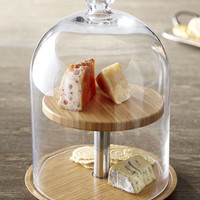 Two Tier Glass Cheese Dome - Horchow