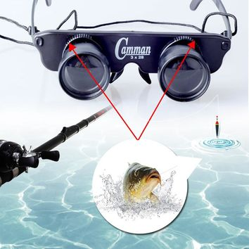 Telescope Glasses Magnifier Eyewear Fishing Hiking Concert Theater Binoculars