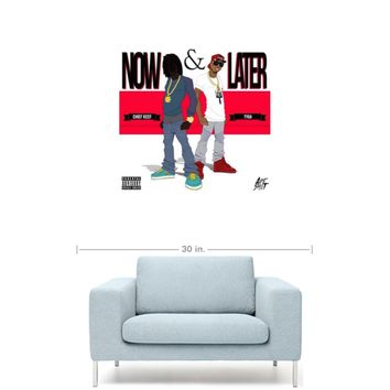 """Chief Keef & Tyga - Now & Later 20"""" x 20"""" Premium Canvas Gallery Wrap Home Wall Art Print"""
