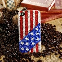 The Stars And The Stripes Rhinestone iPhone 4 / 4S Case