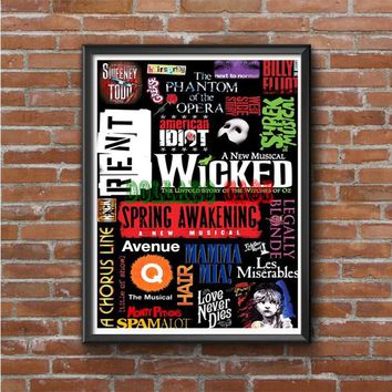 Broadway Musical Collage  Photo Poster 16x20 18x207
