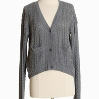 overcast mornings knitted cardigan