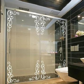 Mirror Decorative Corner Line Wall Sticker Fashion Window Kitchen Cabinet Showcase Europe Style Waistline Balcony Door Laciness