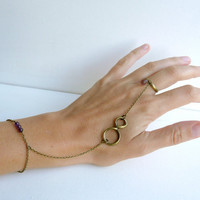 Bracelet hand pirate plum infinite eight 8 multi by liliFunambule