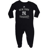 Majestic New York Yankees Infant Navy Blue Dugout Thermal Bodysuit