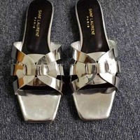 YSL Women Fashion Flats Sandal Slipper Shoes