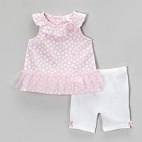 Pink Heart Tank & White Leggings - Infant, Toddler & Girls | something special every day