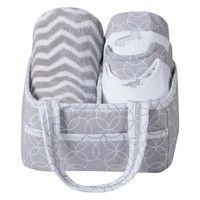 Safari Chevron 6 Piece Baby Care Gift Set