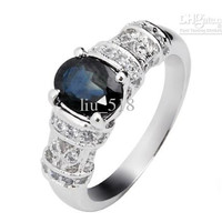 Natural stone jewelry jewelry Natural Sapphire Ring
