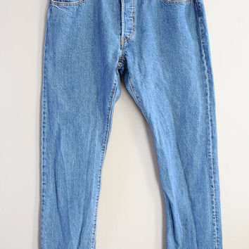 Levi's 501 W32 Vintage Levi's Jeans High Waist Mom Jeans Boyfriend Button Fly Hipster Boho #P042A