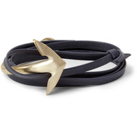 Miansai Half-Cuff Metal and Leather Wrap Bracelet | MR PORTER