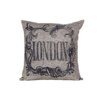 Flourished Throw Pillow - London