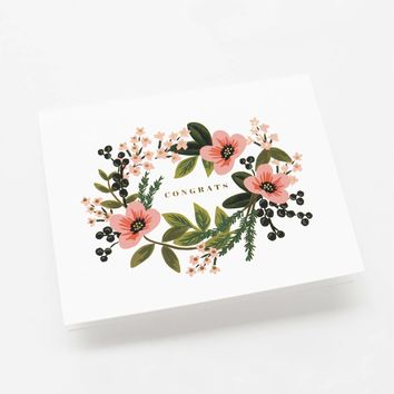 Congrats Bouquet Greeting Card by RIFLE PAPER Co. | Made in USA
