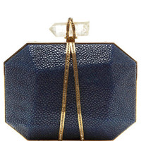Iris Clutch In Ocean Stingray by Marchesa Now Available on Moda Operandi