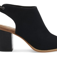 BLACK SUEDE WOMEN'S ELBA BOOTIES
