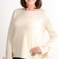 Ivory Tie Sleeve Sweater