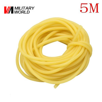Hunting Military 5M 3x5mm Shooting Slingshots Rubber Tube Natural Latex Bow Rubber Band Catapult Fitness Bungee Elastic Part