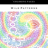 Adult Coloring Books - Wild Patterns: Quick Print Coloring Pages
