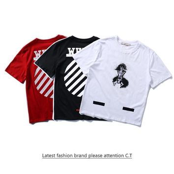 Cheap Women's and men's OFF-WHITE t shirt for sale 85902898_0204