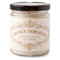 9 oz. Apothecary Candle, Honey/Tobacco, Filled Candles
