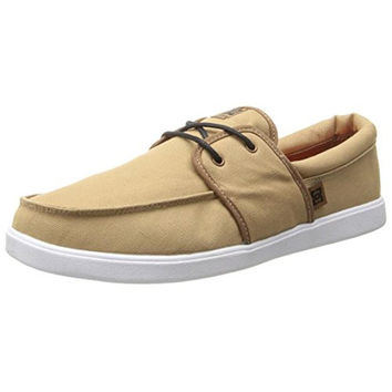 DC Mens Hampton Canvas Contrast Boat Shoes