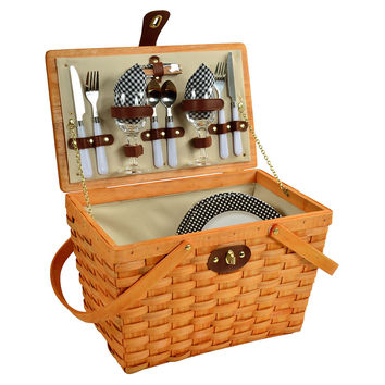 Frisco Picnic Basket for Two, Black, Picnic Baskets