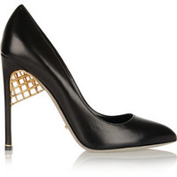 Sergio Rossi Leather pumps – 60% at THE OUTNET.COM