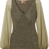 Missoni - Metallic knitted sweater