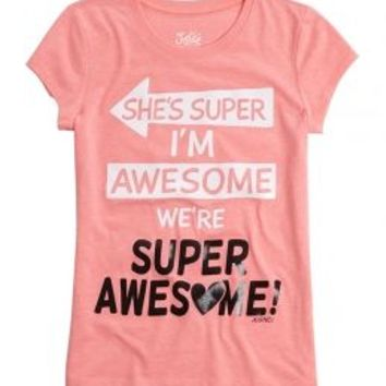 Super Awesome Graphic Tee | Girls {category} {parent_category} | Shop Justice
