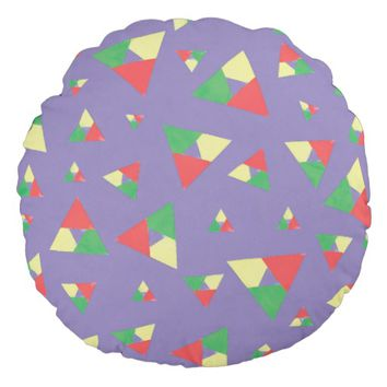 Triangle 2 round pillow