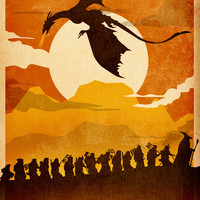 Lord of the Ring Poster, LOTR print, Hobbit Poster Art Print by Albert Lewis - Fan Prints
