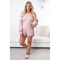 Daily Delight Striped Two Piece (Dusty Pink)