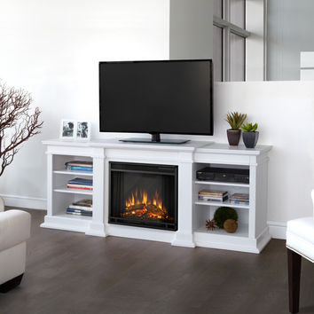 Real Flame Fresno White Entertainment Center Electric 71.73-inch Fireplace | Overstock.com Shopping - The Best Deals on Indoor Fireplaces