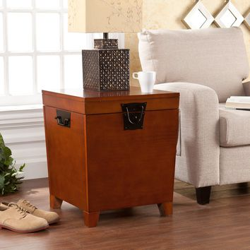 Pyramid Trunk End Table - Mission Oak
