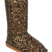 Delia's Madison Sequin Boot - Olive