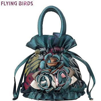 FLYING BIRDS women bag bucket women handbag design casual purse tote high quality flower Mummy bag ladies 2016 LM4025fb