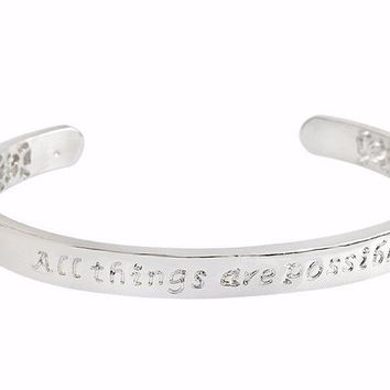 'All Things Are Possible' Hand-Stamped Bangle