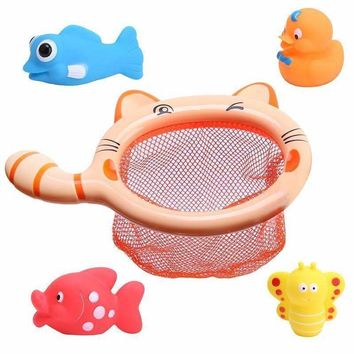 1 Sets Fishing Toys Network Bag Pick up Duck & Bee & Fish Kids Toy Swimming Classes Summer Play Water Bath Toy