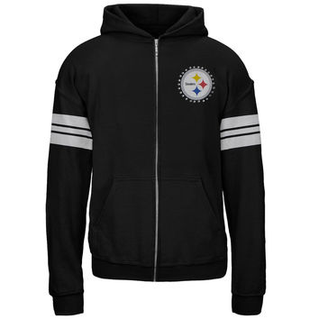 Pittsburgh Steelers - Logo Sport Stripes Girls Juvy Zip Hoodie