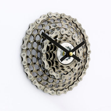 Bike Clock, Bicycle Gear Clock,Bicycle Wall Clock, Steampunk, Upcycled Bike Parts, SRAM, Gift for Cyclist, Gear Clock, Steampunk Clock