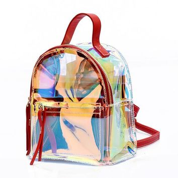 Clear Backpacks popular Multifunctional Clear Backpack - Transparent for School, Security, Stadiums AT_62_4